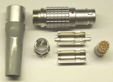 Lemo dimensioni 1b 1-codificato spina 14 poli fgg.1b.314 con protezione antipiega In Grigio