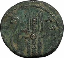 HADRIAN 117AD Selge in Pisidia Thunderbolt Authentic Ancient Roman Coin i44413
