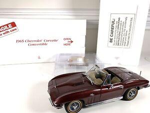 Danbury Mint 1965 Chevrolet Corvette Convertible Maroon 1:24 Limited Edition