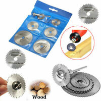 6pcs HSS Rotary Saw Blades For Metal  Tool Cutting Discs Wheel + Mandrel