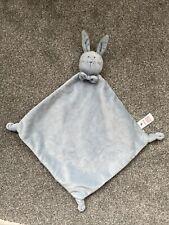 Baby comforter soft toy Bunny Rabbit Blue TU Sainsbury's Blanket Blankie BNWOT