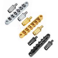 ABR-1 Guitar Tune-O-Matic Roller Bridge for Guitar Parts Chrome Gold Black