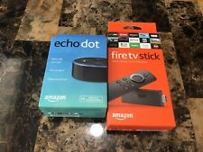 Amazon Fire TV Stick 2nd Gen with Alexa Voice Remote and Echo Dot Bundle - Black