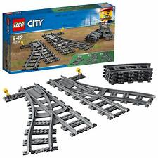 Lego City Train Switch Tracks 60238 2x Track Changer 4x Curved Line Corner Rails