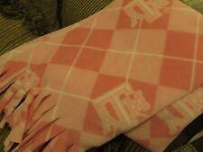 Scarf Muffler Texas AM University College Fleece Aggie Neckwarmer Pink and White