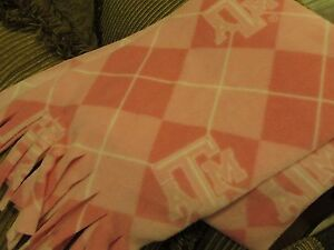 Scarf Muffler Texas AM University College Fleece Aggie Neckwarmer Pink and White