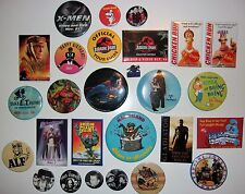 Pinback, Pin, Badge, Button Mixed Lot of 28 Including Superman, Star Wars, E.T.