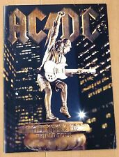 AC/DC WORLD TOUR CONCERT PROGRAM BOOK 2001 STIFF UPPER LIP Angus Young Brian