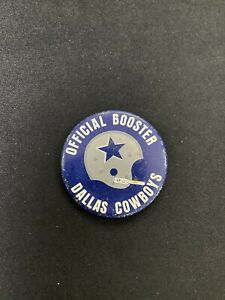 Vintage 1967 Dallas Cowboys NFL Pin Official Booster Button by H.J. Heinz