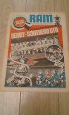 DERBY COUNTY V BIRMINGHAM CITY JAN 28TH 1976/7  FA CUP 4TH  FOOTBALL PROGRAMME