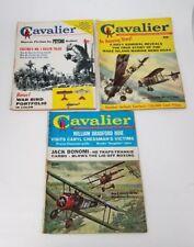 Cavalier Mens Adventure Magazine Set of 3 Dec 1960, Jan 1961, May 1961 Biplanes