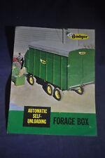 1965 Badger Automatic Self Unloading Forage Box Brochure