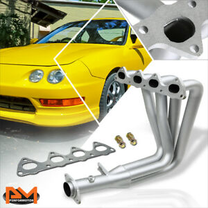 For 94-01 Acura Integra GSR/Type-R B-Series Performance Exhaust Header Silver