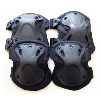 4PCS Knee Elbow Protective Pad Protector Gear Sports Tactical Airsoft Combat US