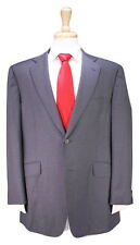 DUNHILL Recent London St. James Fit Solid Gray 2-Btn Wool Suit 42S