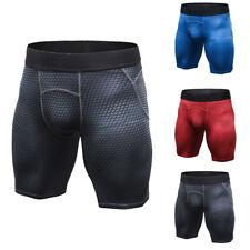 Hot Men's Sports Gym Leggings Compression Wear Under Base Layer Short Pants