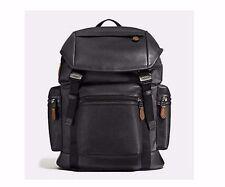 NWT Coach F57477 Black  Terrain Trek Pack in Perforated Backpack MSRP $ 595.00
