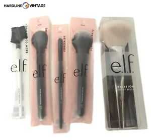 E.l.f. Makeup brush set w/ Brow Comb & Lash Brush-5pc Lot-Brand New.