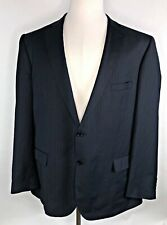 Enzo Tovare Mens 48R Modern Navy w/ Blue Pinstripe 2-Button Blazer / Suit Jacket
