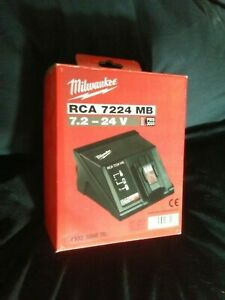 MILWAUKEE RCA 7224 MB CHARGER 7.2V - 24V - Fast Battery Charger (NEW)