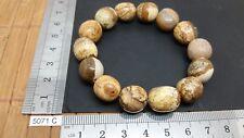 Bracelet JASPE PAYSAGE perles en pierres roulées mineraux lithotherapie bijou