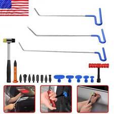 19Pcs  PDR Tools Paintless Dent Repair Push Rods Hail Puller Lifter Hammer Heads