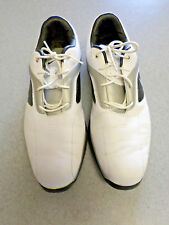 "Nike ""Lunarlon"" white,silver, black leather, spikeless golf shoes. Men's 13"