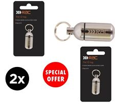 2 x RAC Pet ID Tag Capsule For Cat / Dog Etc - With Collar Attachment. JOBLOT.