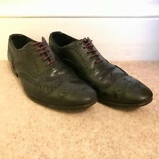 Paul Smith mens black brogue shoe with purple / maroon laces (UK size 11).