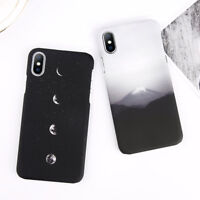 Mount & Moon Matte Hard Back Phone Case Slim Cover For iPhone XS Max XR X 6S 7 8