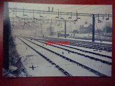 PHOTO  RAIL TRACK AT NORTHAMPTON 1985 COVERED IN SNOW VIEW 2