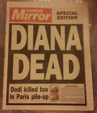 PRINCESS DIANA SPECIAL EDITION NEWSPAPER DIANA DEAD SUNDAY MIRROR AUGUST 31 1997