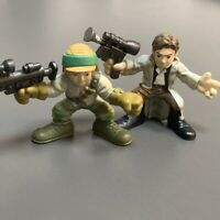 2x Playskool Star Wars Galactic Heroes Luke Skywalker Han Solo W/Gun Figure Toy