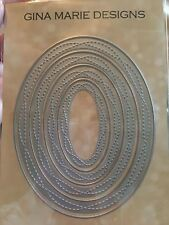Gina Marie designs metal cutting dies - Wonky Oval shape ovals