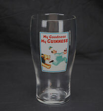 20 oz. GUINNESS BEER Glass - My Goodness My Guinness - lion chasing man