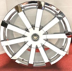 4 Cadillac BACK IN STOCK FACTORY STYLE II CHROME 20 X 8.5 WHEELS MOST CADILLAC