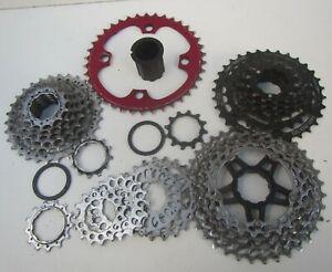 Job lot of Spare Mountain Bike Cogs & Cassettes - Shimano Blackspire