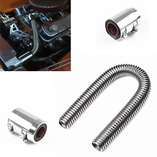 """24"""" Polished Stainless Steel Flex Radiator Hose Clamp Kit w/End Caps Uppe &Lower"""