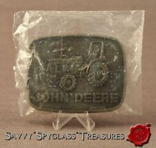 1980 John Deere Tractor Brass Belt Buckle in Package