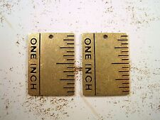 Stamping (2) - Bos8476 Oxidized Brass One Inch Ruler