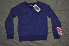 Soffe Zebra Print Dance Crew Sweatshirt Purple 6635G Girls Small NWT