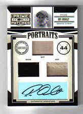 2005 Donruss Prime Patches Roy Oswalt Auto & Triple GU Bat Hat Shoe P-9 #'d/25