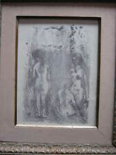 Three Nudes  by Edna Hibel with LOVE EDNA  pre 1974