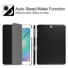 Samsung Galaxy Tab S2 9.7 Case Slim For SM-T810 SM-T815 SM-T817 Flip Cover Black