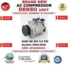 Denso CA COMPRESOR AUDI A6 4f2 3.0 TDI quattro 2004-2006 NUEVO 4f0260805s
