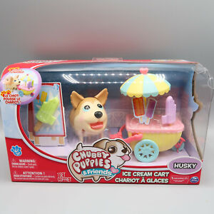 Chubby Puppies & Friends Ice Cream Cart Husky Moving Dog by Spin Master