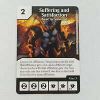 x1 Suffering and Satisfaction Basic Action Card Marvel Dice Masters Singles