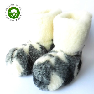 SALE! Women's/Man's SHEEP WOOL Slippers DOUBLE LAYERED Boots, Handmade