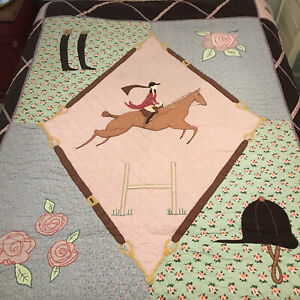 """""""The Land Of Nod"""" Equestrian Quilt Size Twin"""