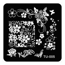 DIY Nail Metal Stamping Template Flower Grass Butterfly Nail Supplies Konad TU05